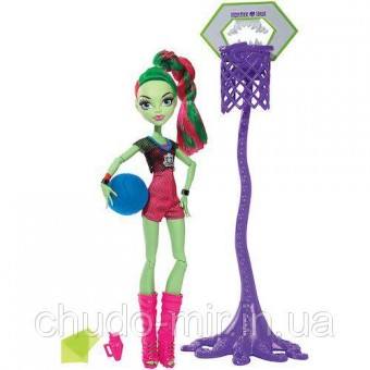Monster high Венера МакФлайтрап Чемпионат по баскетболу Venus Mcflytrap Casketball champ