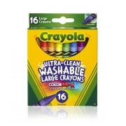 Разноцветные мелки Крайола (Crayola) ультра-чистое смывание Восковые карандаши 16 шт.
