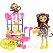 Игровой набор Энчантималс Фруктовая корзинка кукла Мери с обезьянкой / Enchantimals Fruit Cart Playset