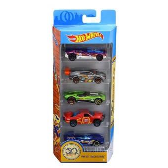 Набор машинок Hot Wheels 50 Track Stars Хот Вилс 5шт.