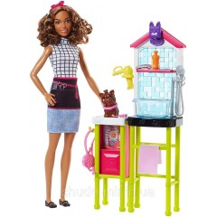 Кукла Барби Barbie салон для питомцев