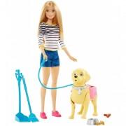 Набор кукла Барби с собакой на прогулке