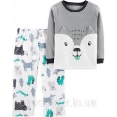 """Флисовая пижамка для мальчика Carter's """"Волчёнок"""" 3Т, 4Т, 5Т"""