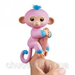 Интерактивная обезьянка розово-голубая Fingerlings Кенди WowWee Оригинал.