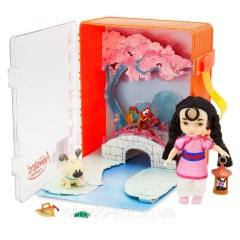 Набор чемоданчик кукла принцесса Дисней Мулан в детстве