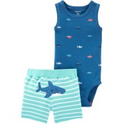 Комплект двойка для мальчика Картерс (Carter's) голубой