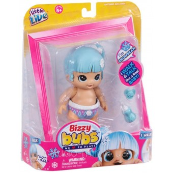 Little Live Интерактивная кукла Снежный Лучик Bizzy Bubs Single Pack Snowbeam