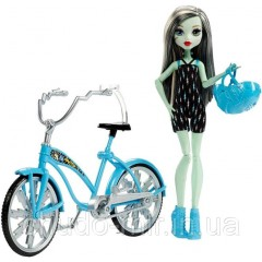 Кукла монстер хай Френки штейн на велосипеде Monster High Boltin' Bicycle Frankie Stein Doll