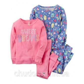 Пижама 4в1 для девочки Carter's(Картерс)