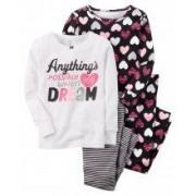 Пижама с сердечками Картерс Carters для девочки