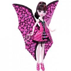 Кукла Монстер Хай Дракулаура Летучая мышь с платьем трансформером